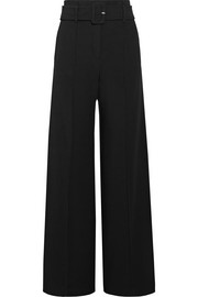 Theory Belted crepe wide-leg pants