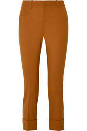 Cropped stretch-wool slim-leg pants