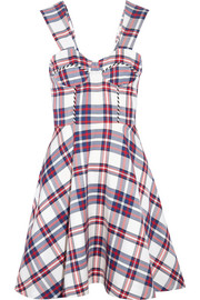 Tartan twill mini dress