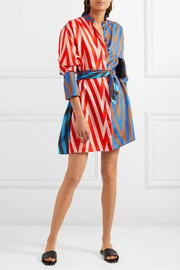 Diane von Furstenberg Printed silk-twill mini dress