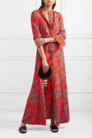 Diane von Furstenberg Printed washed-silk maxi dress