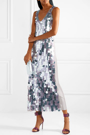 Diane von Furstenberg Embellished silk-satin maxi dress