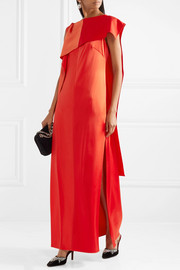 Diane von Furstenberg Draped satin and grosgrain gown