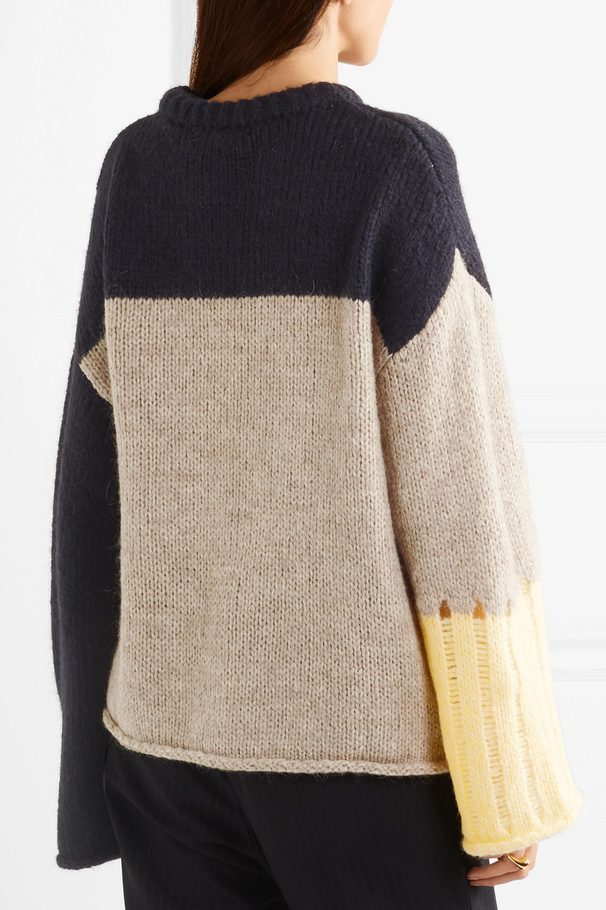 ALEXACHUNG Intarsia knitted sweater