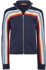 Striped jersey track jacket
