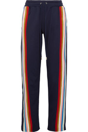 Striped jersey track pants