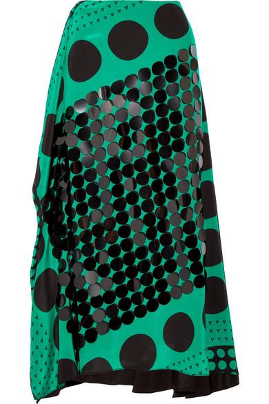 Diane von Furstenberg Verzierter Midirock aus Crêpe de Chine aus Seide mit Print