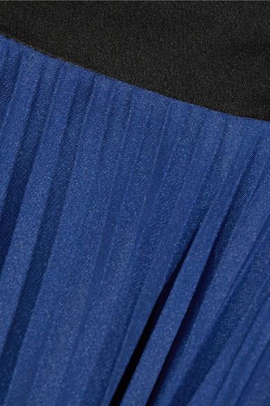 Diane von Furstenberg Maxirock aus plissiertem Seidensatin