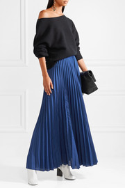 Diane von Furstenberg Pleated silk-satin maxi skirt
