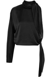 Diane von Furstenberg One-shoulder satin top