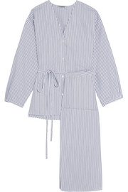 Three Graces London Fillide striped cotton pajama set