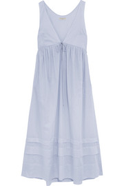 Lindera pleated cotton-voile nightdress