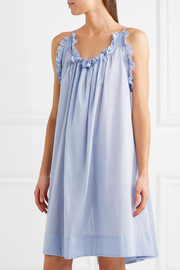Nightingale ruffled cotton nightdress