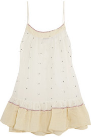 Mes Demoiselles Otto embroidered cotton-voile camisole