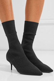 Stretch-knit boots