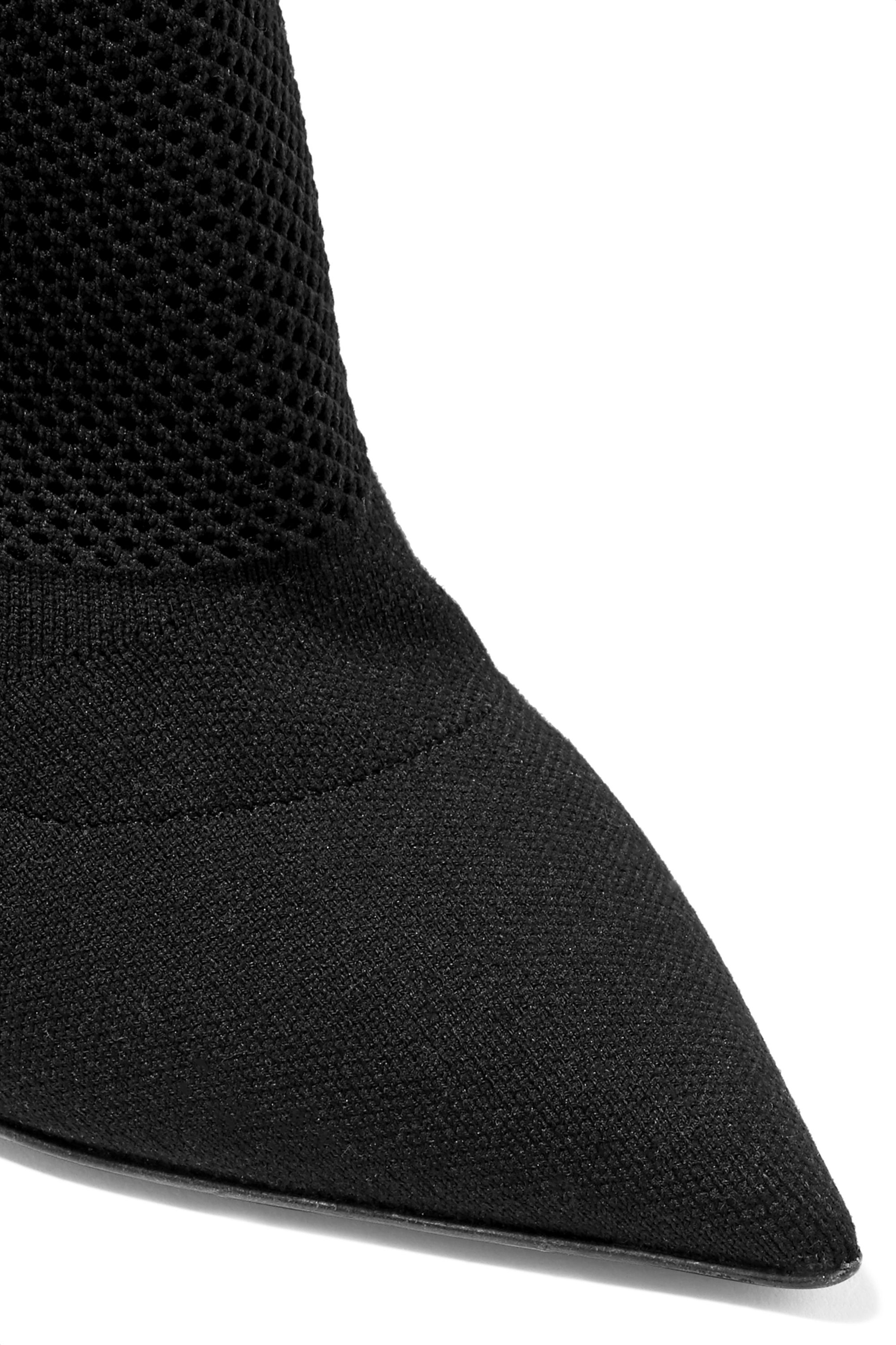 Burberry Stretch-knit sock boots