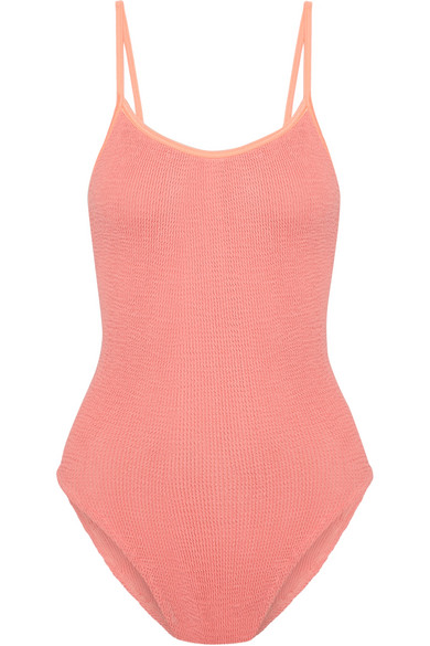 HUNZA G - Seersucker Swimsuit - Coral