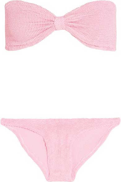 6789c59018d51 Hunza G | Jean seersucker bandeau bikini | NET-A-PORTER.COM