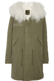 MR & MRS ITALY Shearling-lined cotton-canvas parka