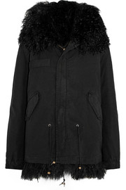 Shearling-lined cotton-canvas parka