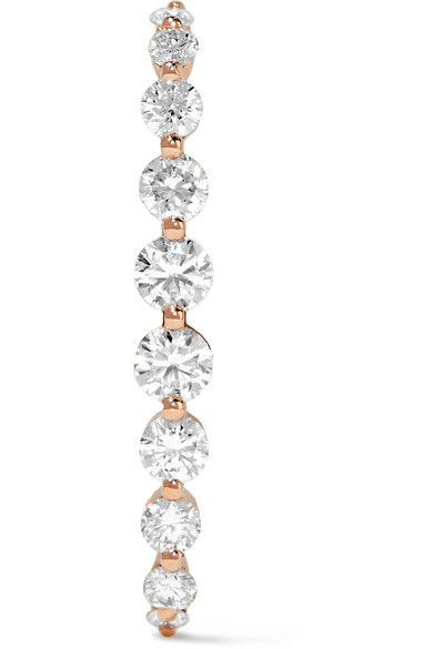 Anita Ko - 18-karat Rose Gold Diamond Earring - one size