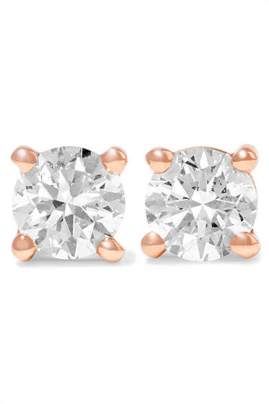 Anita Ko - 18-karat Gold Diamond Earrings - Rose gold