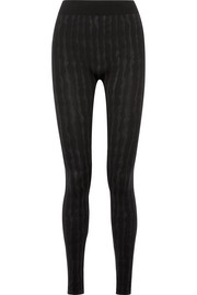Striped stretch modal-blend leggings