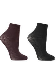 Wolford Set of two stretch-knit socks