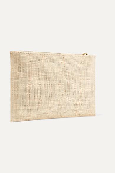 Kayu Bridesmaid bestickter Beutel aus gewebtem Stroh