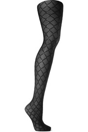 Wolford Dot Net jacquard-knit 20 denier tights