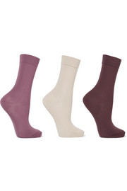 Falke Set of three stretch cotton-blend socks
