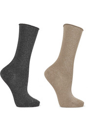 Falke Set of two metallic cotton-blend socks