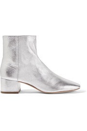 Carter metallic leather ankle boots