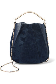 Eddie Borgo Pepper Mini Pochette twill and textured-leather bucket bag