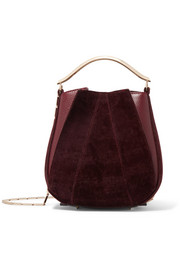 Pepper Pochette twill and leather mini bag