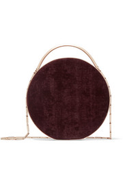Eddie Borgo Chet Minaudiere leather-trimmed twill shoulder bag