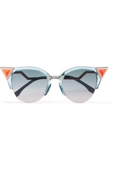 Embellished Cat-eye Acetate Sunglasses - Pink Fendi oYSpAEqQa