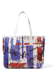 Burberry Medium printed coated-canvas tote