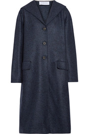 Harris Wharf London Hooded wool-felt coat