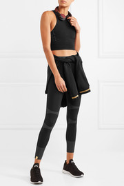 Action reflective stretch-jersey leggings