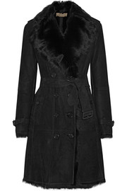 Toddingwall shearling trench coat
