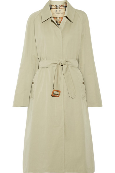 The Brighton Cotton-Gabardine Trench Coat, Beige