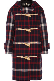 Burberry Hooded checked woven duffle coat