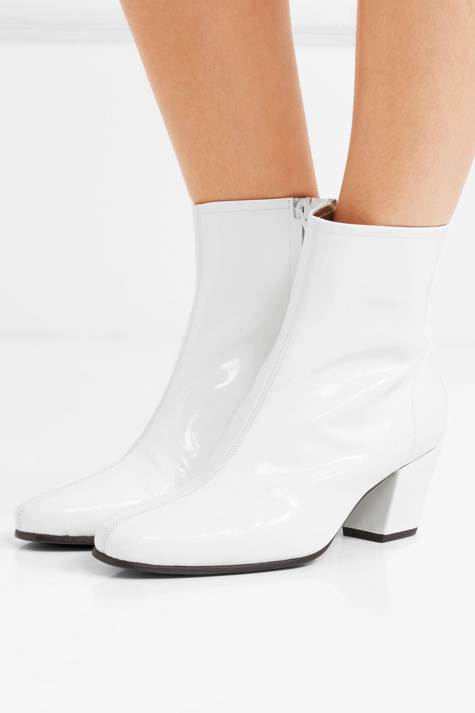 ALEXACHUNG Beatnik patent-leather ankle boots