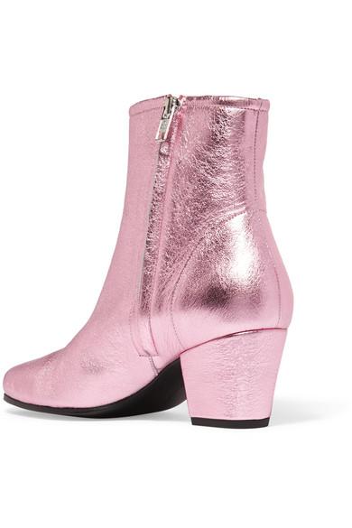 Alexachung Pink Metallic Beatnik Boots Z9K7En9z8