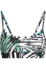 I Am Exotic printed stretch sports bra