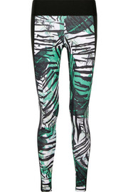 I Am Exotic printed stretch leggings