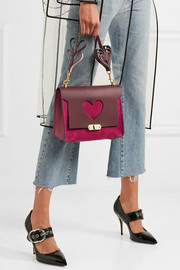Anya Hindmarch Bathurst small leather and suede shoulder bag