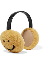 Anya Hindmarch Shearling earmuffs