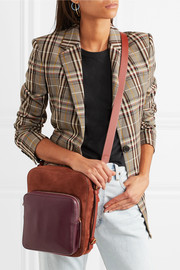 Anya Hindmarch Stack Camera nubuck and leather shoulder bag
